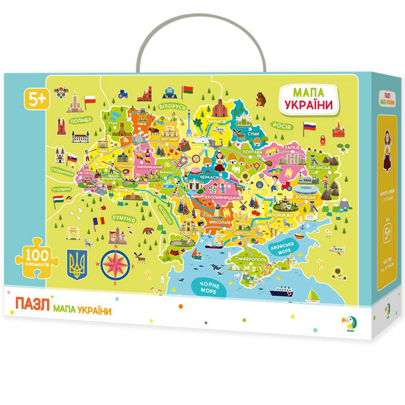 Пазлы карта Украины