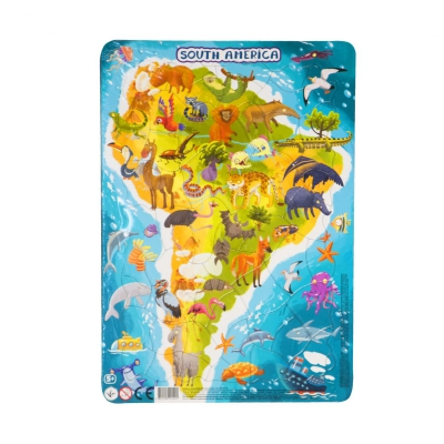 """Пазл с рамкой """"Южная Америка"""", 53 элемента R300178 купить в магазине """"Пустун"""""""