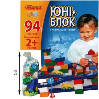 """Конструктор Юни-блок 94 детали (0125) купить в магазине """"Пустун"""""""