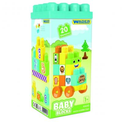 """Пластиковый конструктор WADER Baby Blocks 20 элементов (41430) купить в магазине """"Пустун"""""""