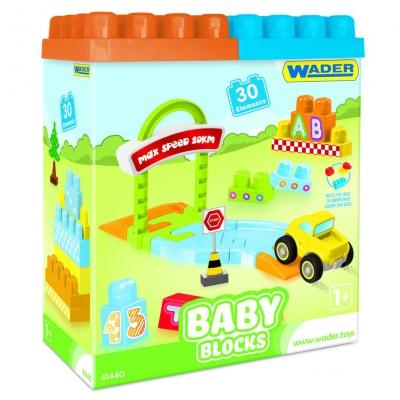 """Конструктор WADER Baby Blocks Мои первые кубики 30 деталей (41440) купить в магазине """"Пустун"""""""