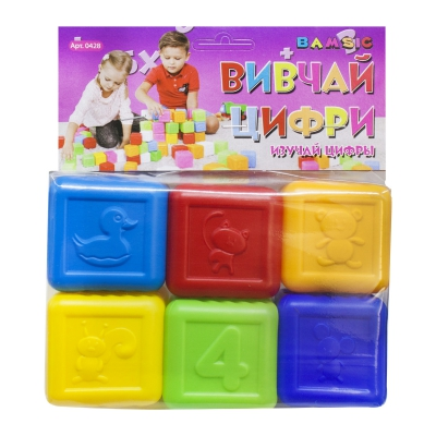 """Набор кубиков Изучай цифры 6 шт купить в магазине """"Пустун"""""""