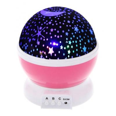 """Ночник-проектор Star Master вращающийся (розовый) купить в магазине """"Пустун"""""""