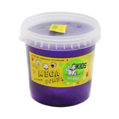 """Слайм Kids Lab Mega Bomb №16 1 кг фиолетовый купить в магазине """"Пустун"""""""