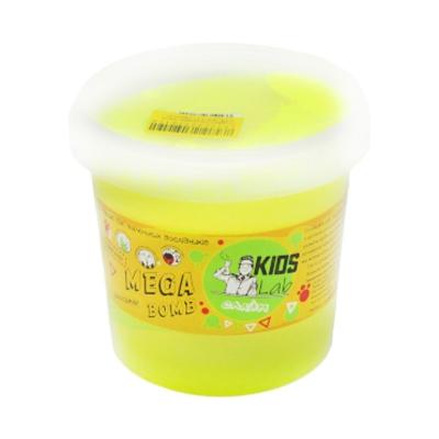 """Слайм Kids Lab Mega Bomb №3 1 кг желтый купить в магазине """"Пустун"""""""