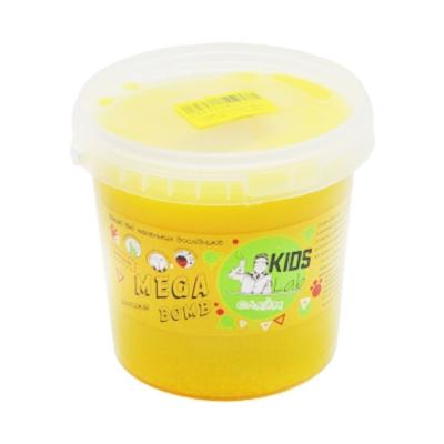 """Слайм Kids Lab Mega Bomb №8 1 кг желтый купить в магазине """"Пустун"""""""