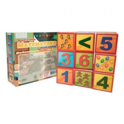 """Набор кубиков """"Математика"""" 0429 купить в магазине """"Пустун"""""""