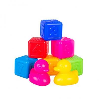 """Детский набор Кубики и уточки 8 элементов 0416 купить в магазине """"Пустун"""""""