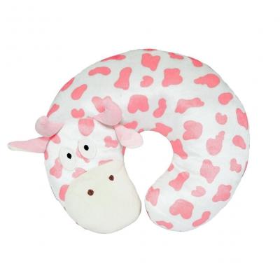 """Подушка-подголовник Коровка розового цвета (ПД-0388) купить в магазине """"Пустун"""""""