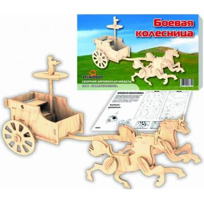 """Деревянный конструктор """"Боевая колесница"""" П094 купить в магазине """"Пустун"""""""