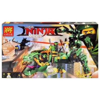 """Конструктор """"Ninja Movie. Дракон зеленого ниндзя"""" 568 дет 31073 купить в магазине """"Пустун"""""""