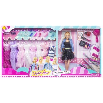 """Кукла Defa Lucy: Fashion Girl в черной одежде купить в магазине """"Пустун"""""""
