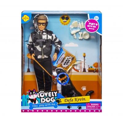 """Кукла Defa Kevin. Lovely Dog в чёрном костюме купить в магазине """"Пустун"""""""