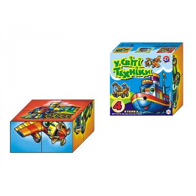 """Кубики В мире техники ТехноК 4 кубика купить в магазине """"Пустун"""""""