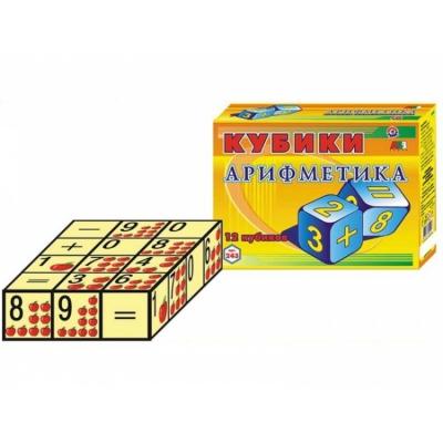 "Кубики Арифметика ТехноК 12 кубиков купить в магазине ""Пустун"""