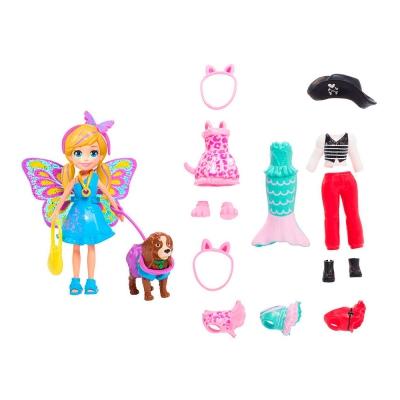 """Кукла Polly Pocket Маленькая модница с любимцем (GDM15) купить в магазине """"Пустун"""""""