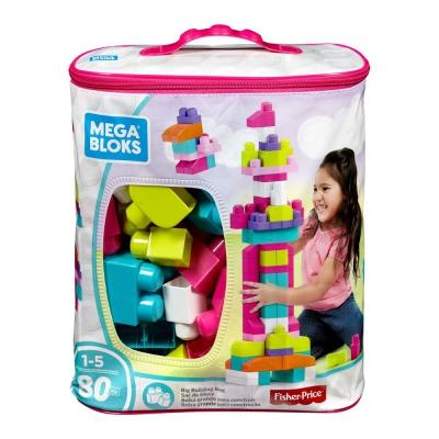 """Конструктор Mega Bloks розовый в мешке (80 деталей) (DCH62) купить в магазине """"Пустун"""""""