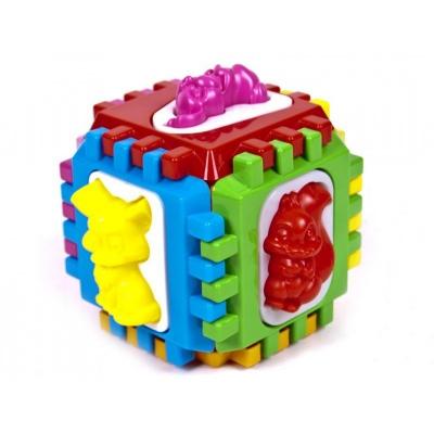 """Логический куб сортер с вкладышами купить в магазине """"Пустун"""""""