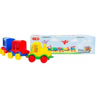 """Игрушечный паравозик Kid cars 3 штуки (39260) купить в магазине """"Пустун"""""""
