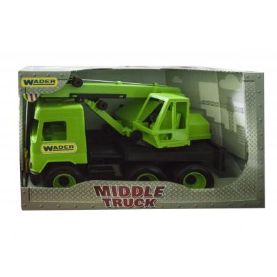 """Игрушечный Автокран TIGRES Middle truck (зеленый) (39483) купить в магазине """"Пустун"""""""