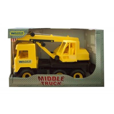 """Авто TIGRES Middle Truck кран (желтый) (39491) купить в магазине """"Пустун"""""""