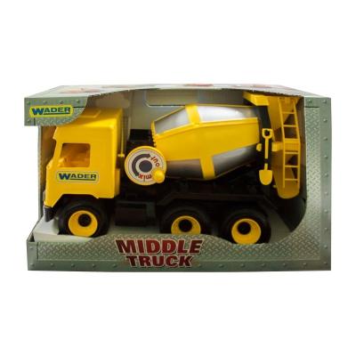 """Бетономешалка TIGRES Middle truck (желтая) (39493) купить в магазине """"Пустун"""""""