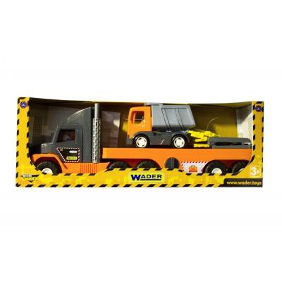 """Машинка WADER Super Tech Truck с грузовиком (36710) купить в магазине """"Пустун"""""""