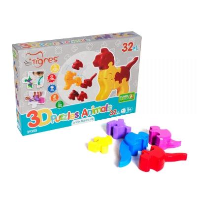 """3D пазлы Животные, 32 элемента (39355) купить в магазине """"Пустун"""""""