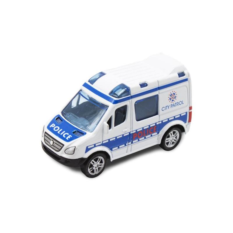 """Машинка инерционная Полиция белый купить в магазине """"Пустун"""""""