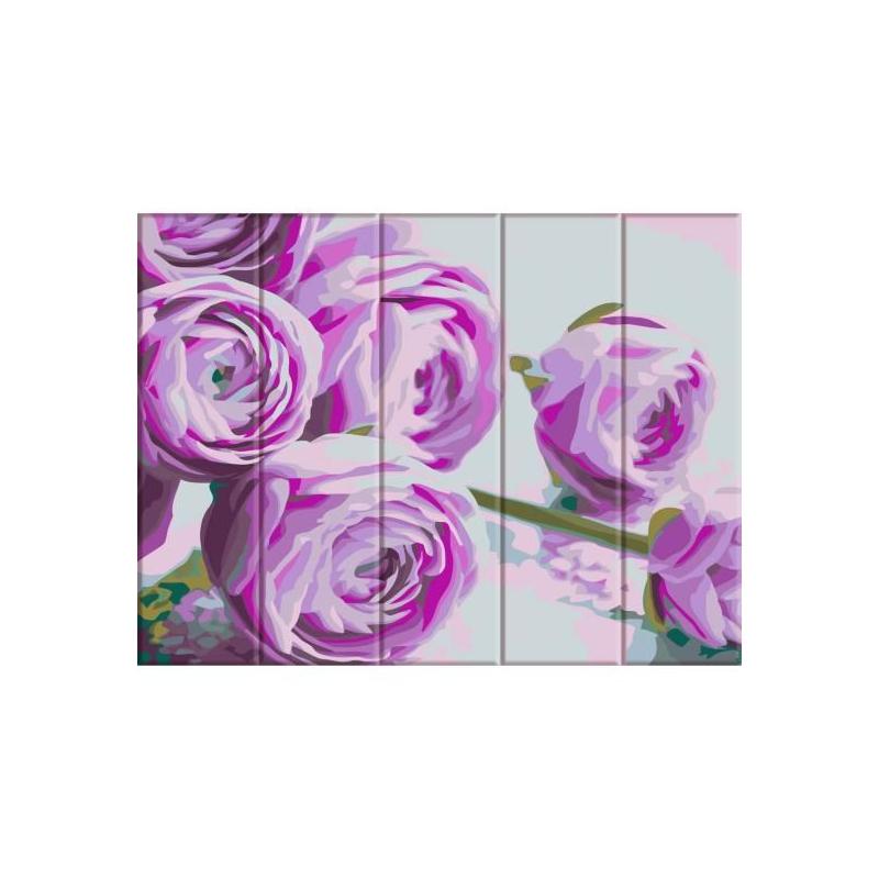 """Картина по номерам на дереве """"Сиреневые цветы"""" ASW044 купить в магазине """"Пустун"""""""