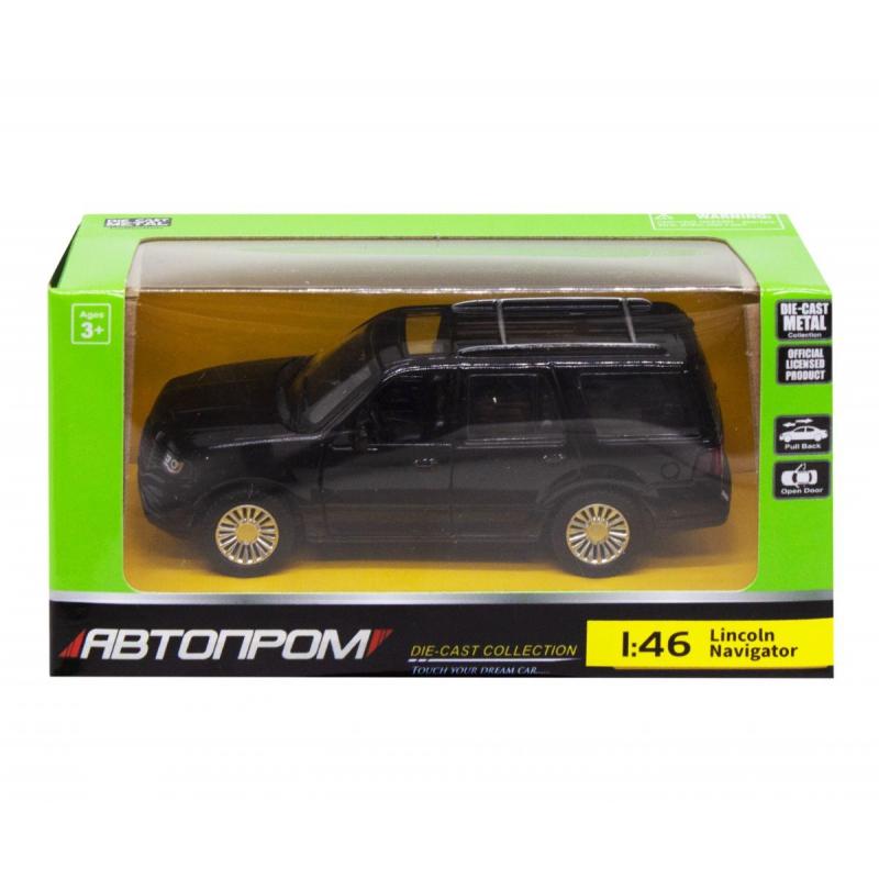 """Машинка """"Lincoln Navigator"""" из серии """"Автопром"""", черный 4309 купить в магазине """"Пустун"""""""