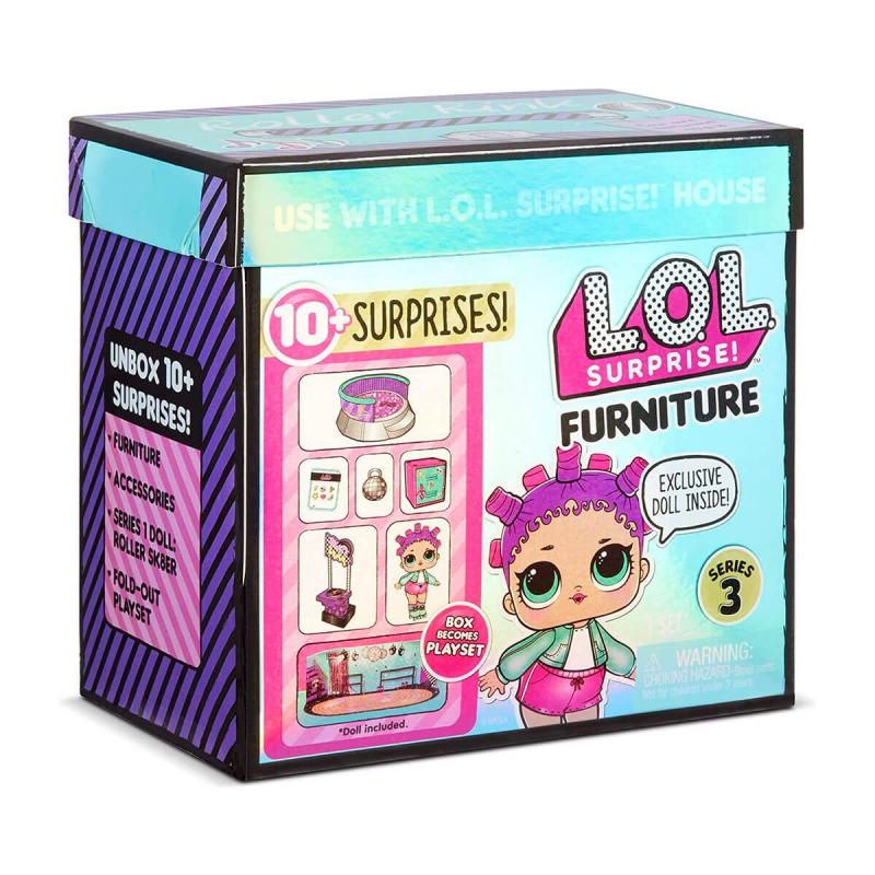 """Игровой набор с куклой L.O.L. Surprise! серии Furniture S2  Роллердром Роллер-Леди (567103) купить в магазине """"Пустун"""""""