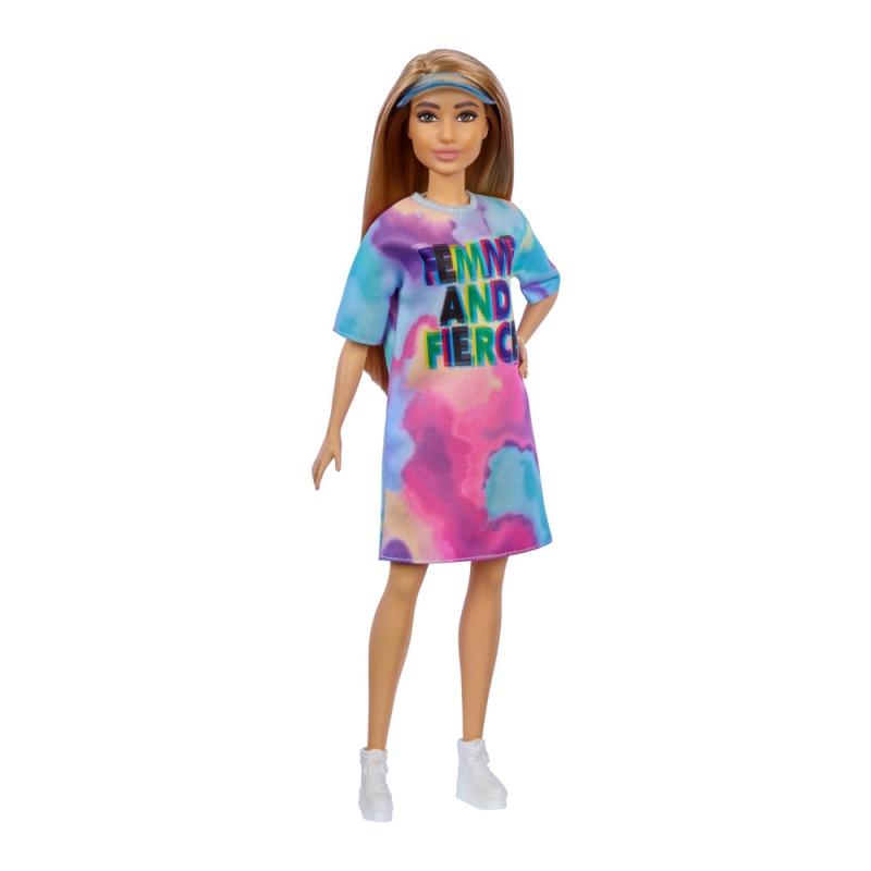 """Кукла Barbie Модница в разноцветной платья и кепке-козырьке (GRB51) купить в магазине """"Пустун"""""""