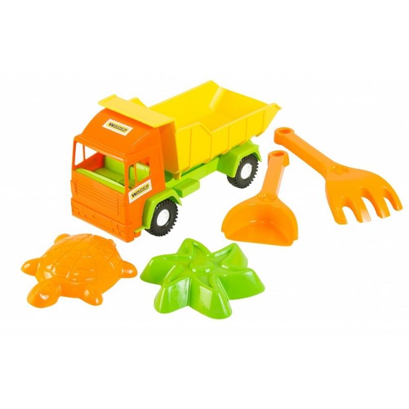 """Mini truck грузовик с набором для песка 5 элементов (39157) купить в магазине """"Пустун"""""""